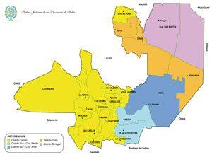 Mapa politico Salta