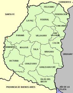mapa politico de entre rios